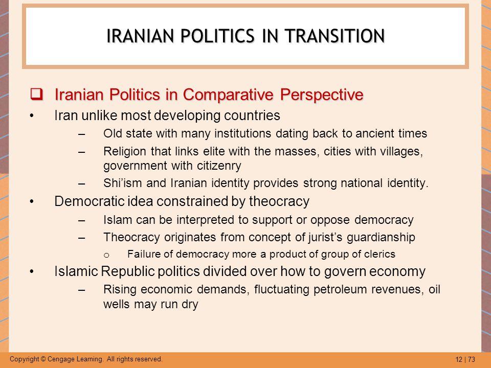 IRANIAN POLITICS IN TRANSITION