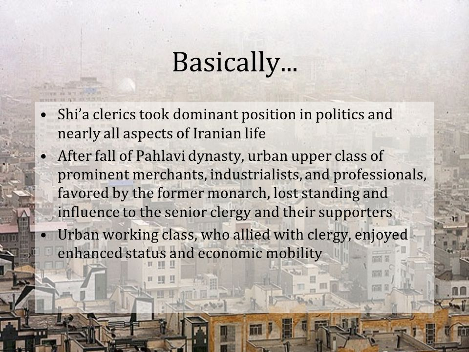 Basically... Shi'a clerics took dominant position in politics and nearly all aspects of Iranian life.