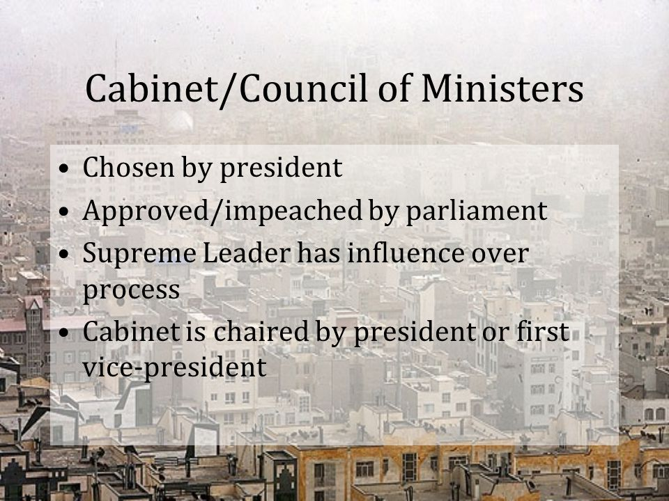 Cabinet/Council of Ministers