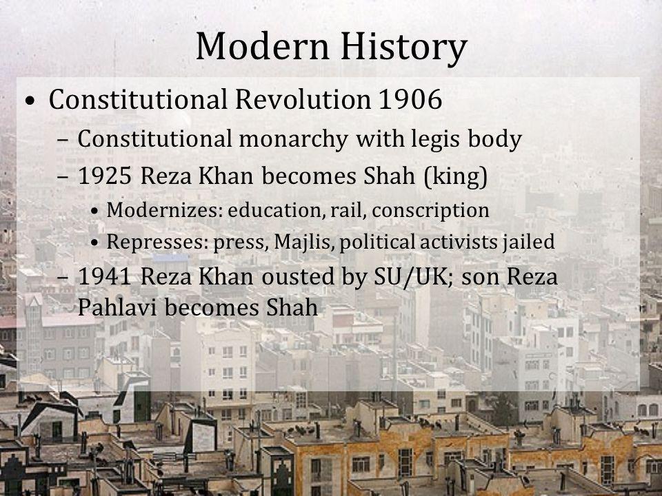Modern History Constitutional Revolution 1906