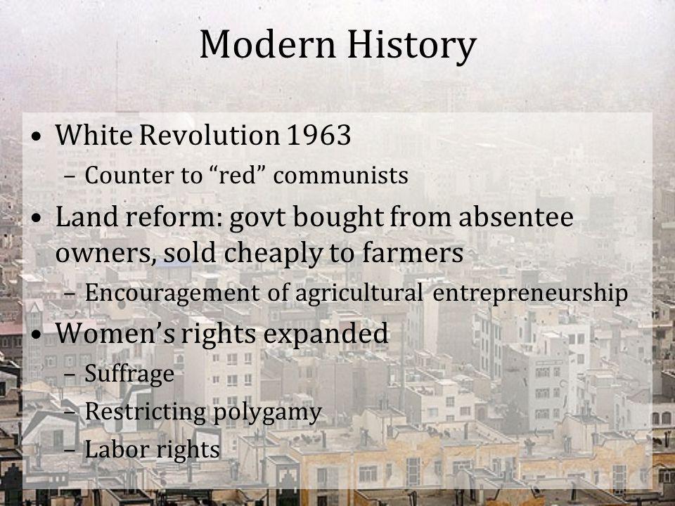 Modern History White Revolution 1963