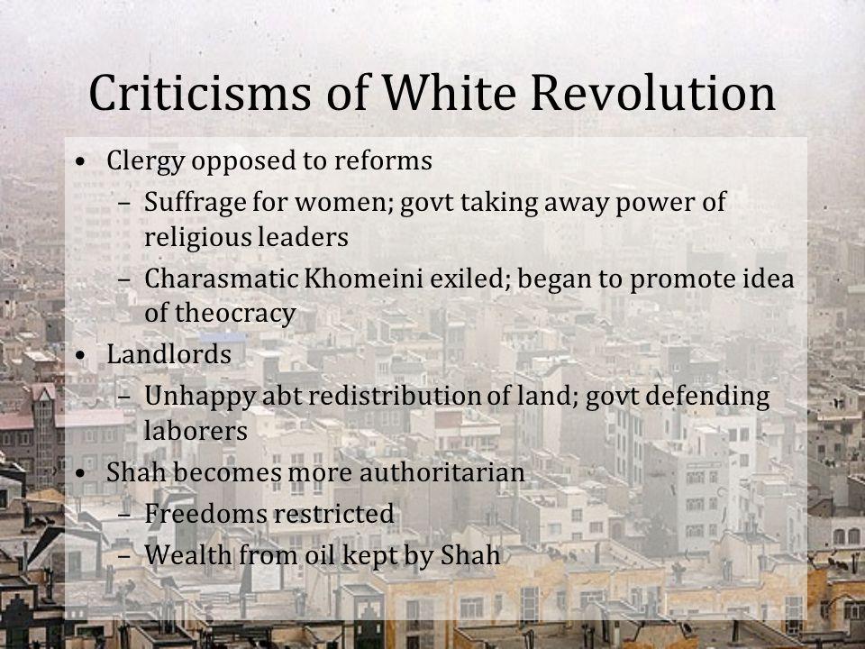 Criticisms of White Revolution