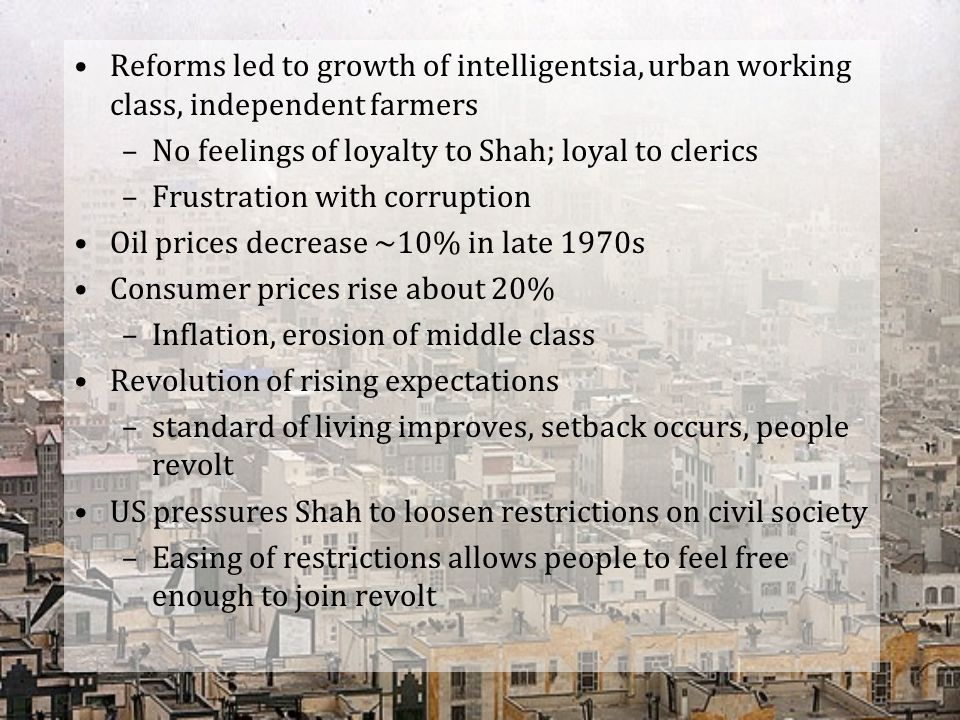 Reforms led to growth of intelligentsia, urban working class, independent farmers