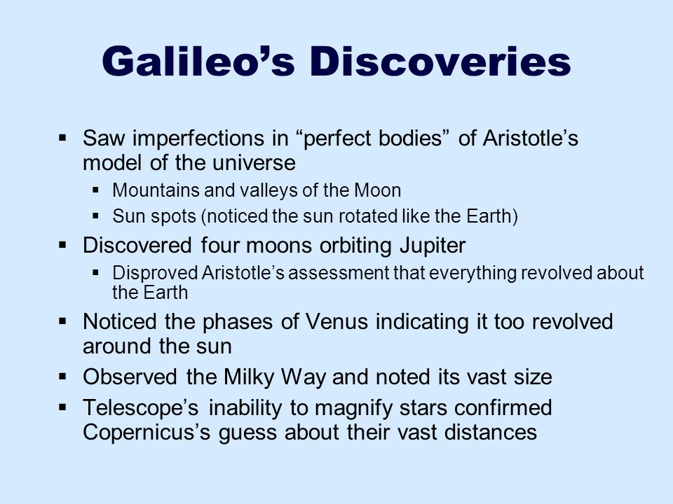 Galileo's Discoveries