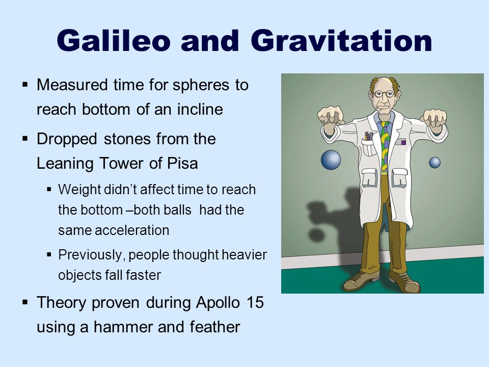 Galileo and Gravitation