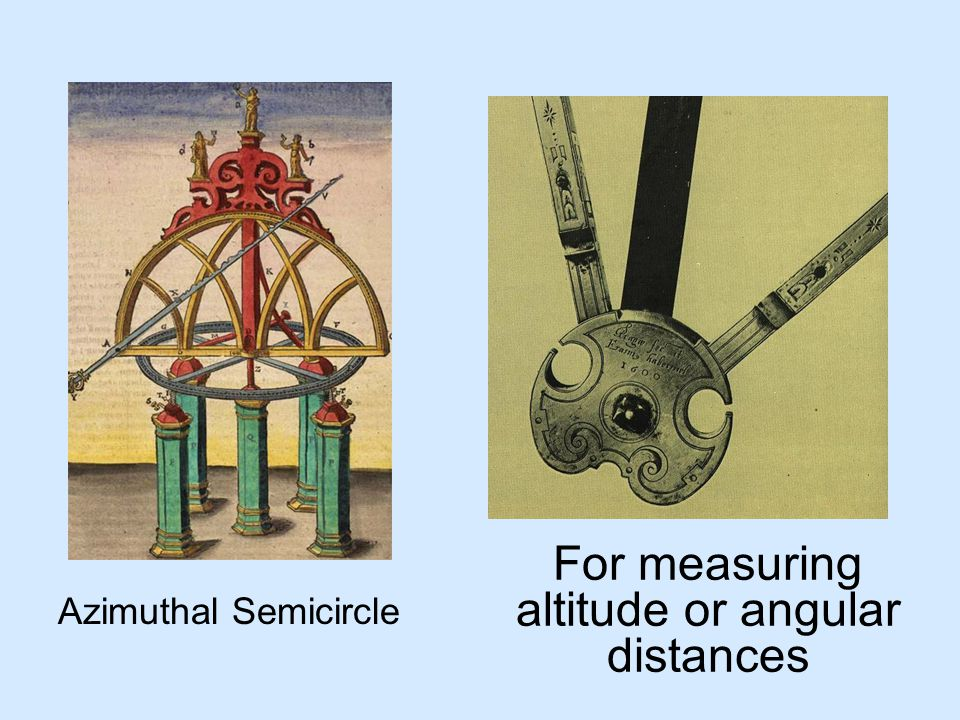 For measuring altitude or angular distances