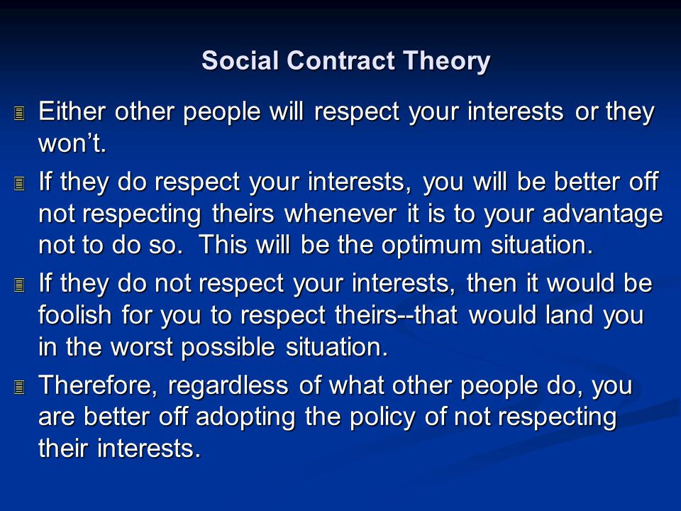 Social Contract Theory