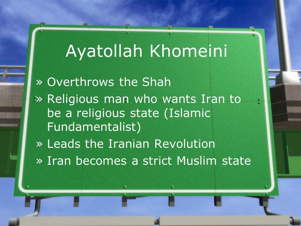 Ayatollah Khomeini Overthrows the Shah