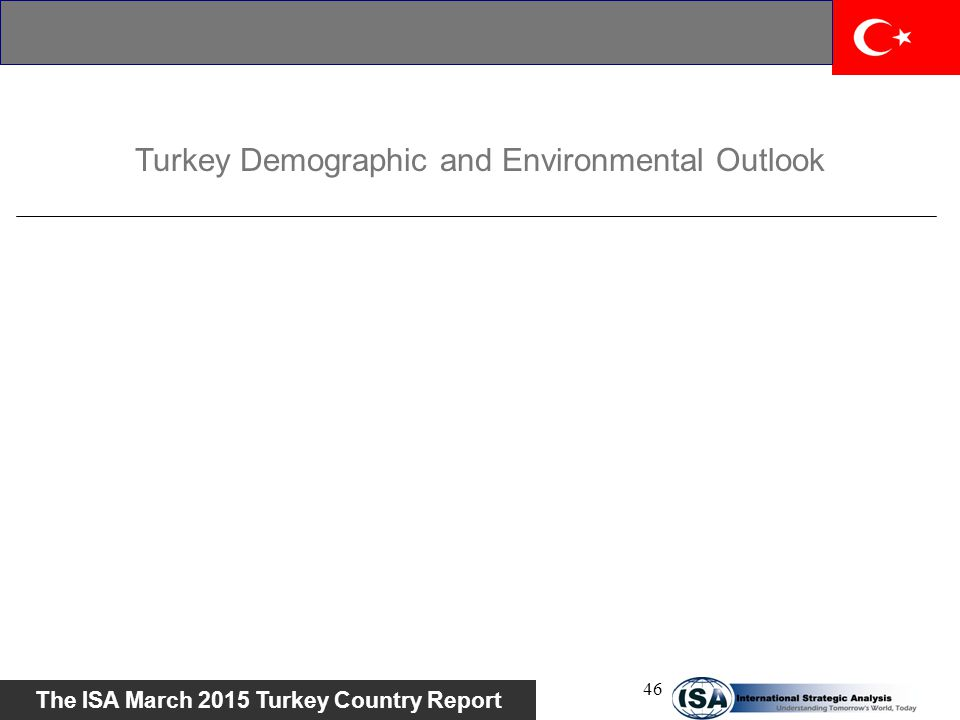 Turkey Demographic and Environmental Outlook