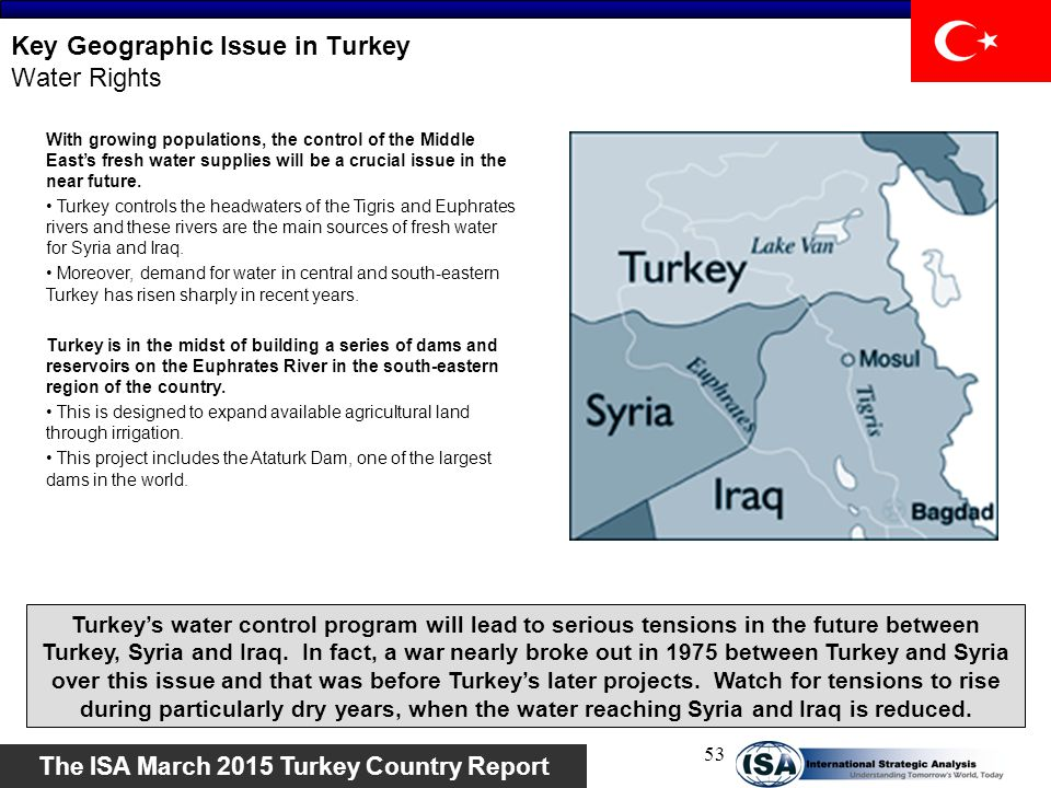 Key Geographic Issue in Turkey Water Rights