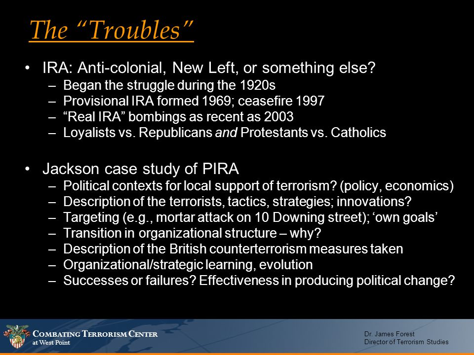 The Troubles IRA: Anti-colonial, New Left, or something else