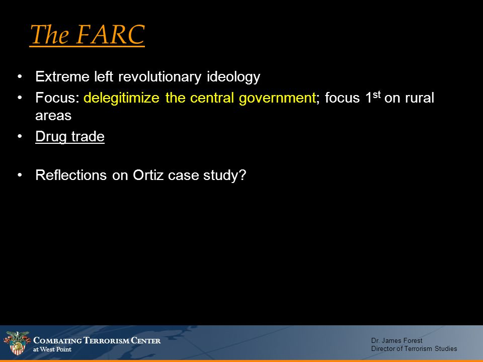 The FARC Extreme left revolutionary ideology