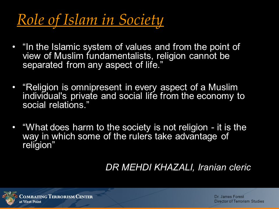 Role of Islam in Society