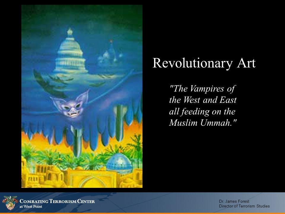 Revolutionary Art The Vampires of the West and East all feeding on the Muslim Ummah.
