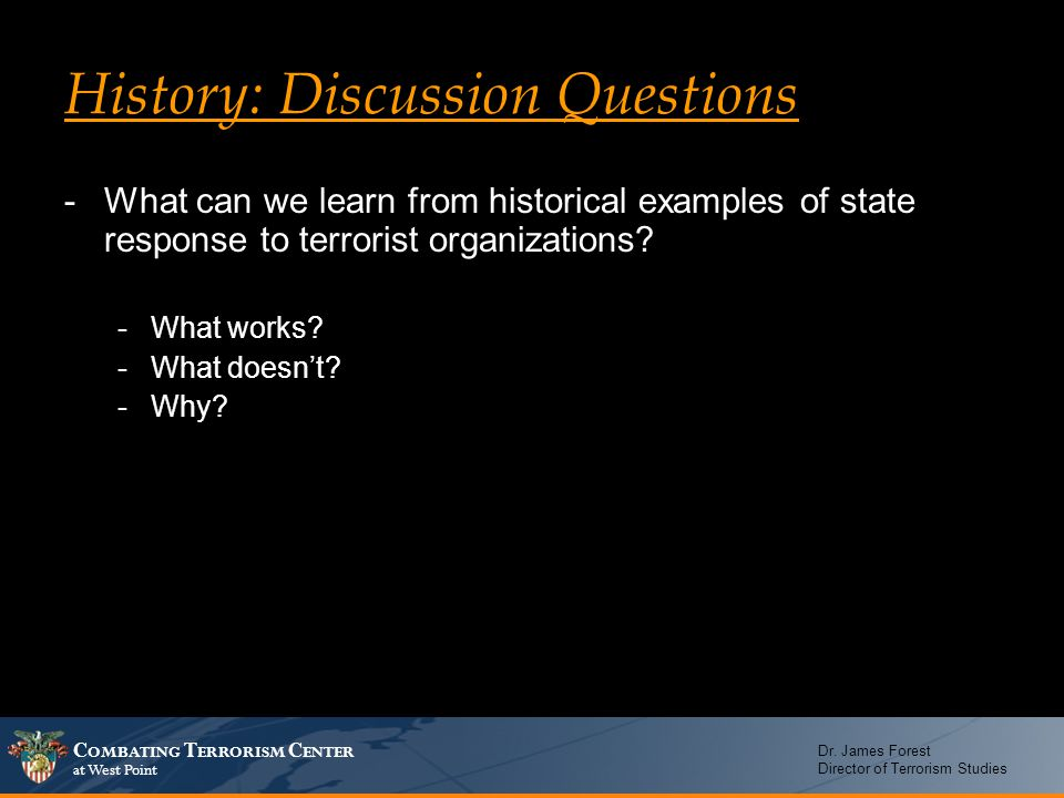 History: Discussion Questions