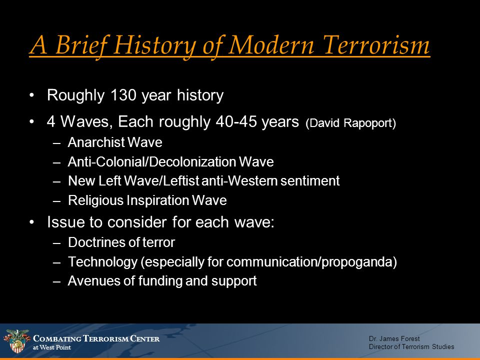 A Brief History of Modern Terrorism