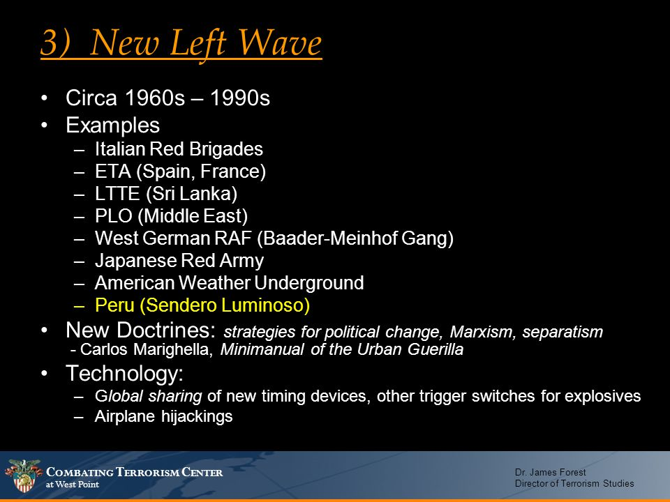 3) New Left Wave Circa 1960s – 1990s Examples