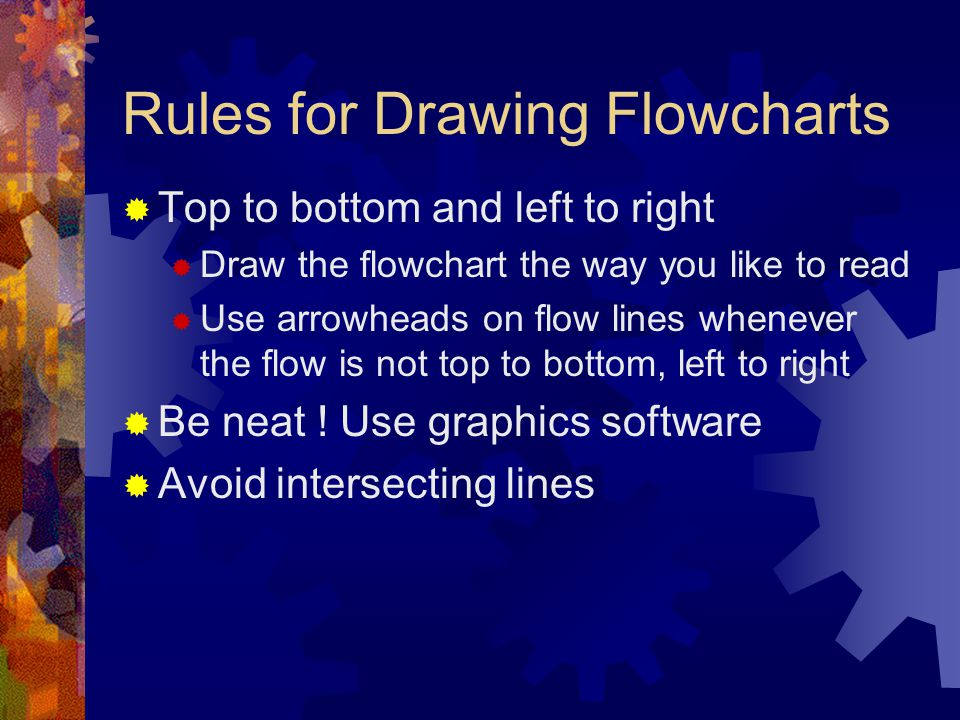 Rules for Drawing Flowcharts