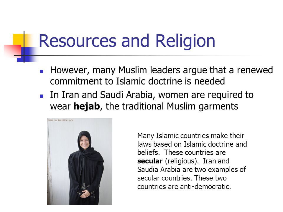 Resources and Religion