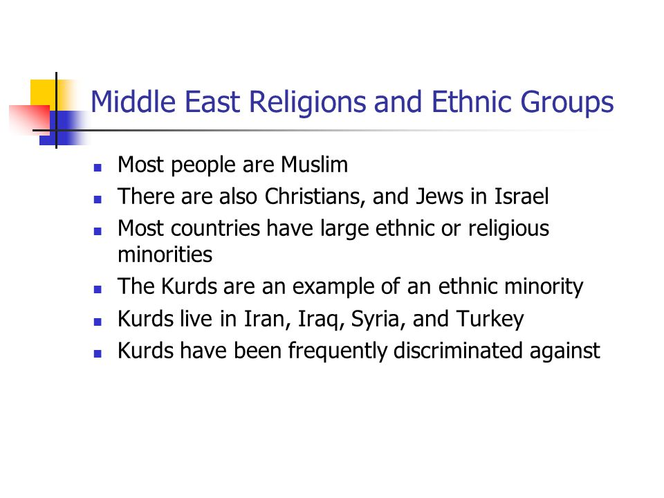Middle East Religions and Ethnic Groups