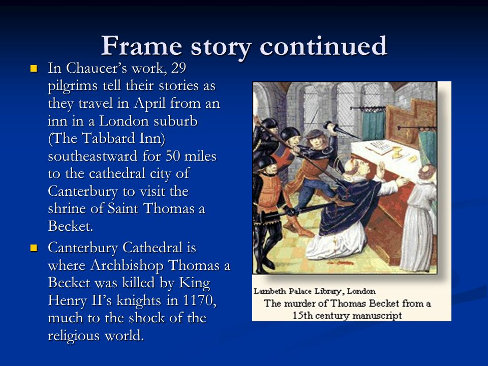Frame story continued