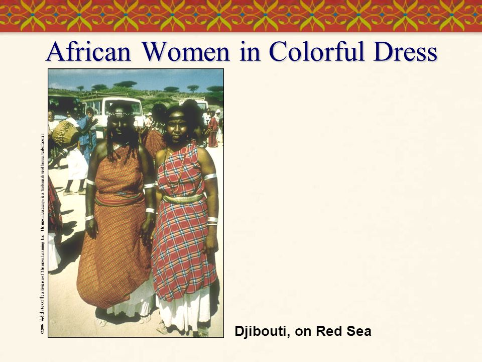 African Women in Colorful Dress