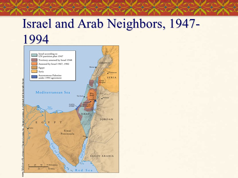 Israel and Arab Neighbors, 1947-1994