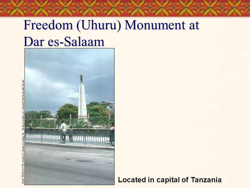 Freedom (Uhuru) Monument at Dar es-Salaam