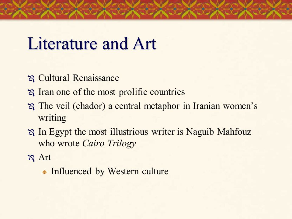 Literature and Art Cultural Renaissance