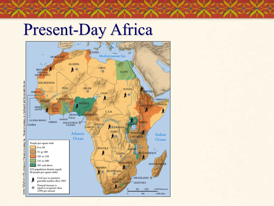 Present-Day Africa ©2004 Wadsworth, a division of Thomson Learning, Inc.