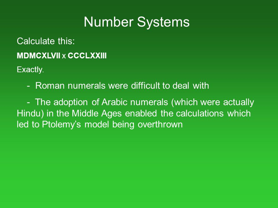 Number Systems Calculate this: