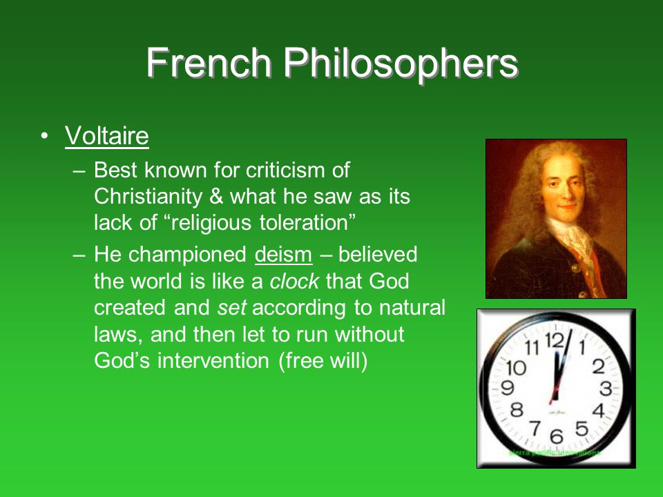 French Philosophers Voltaire