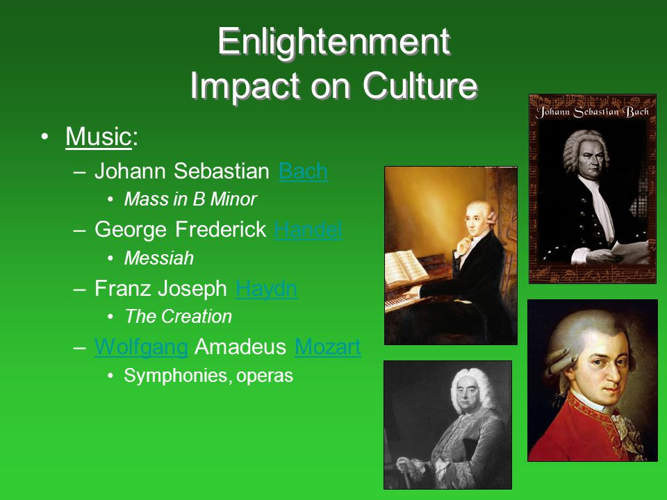 Enlightenment Impact on Culture
