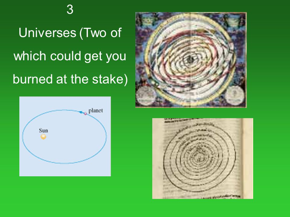3 Universes (Two of which could get you burned at the stake)