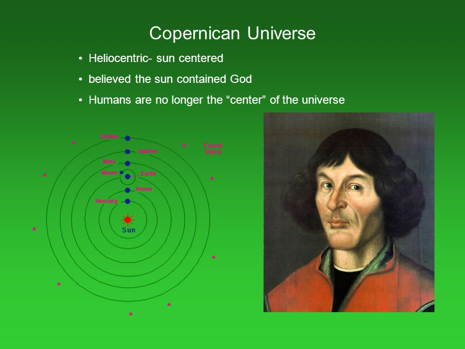 Copernican Universe Heliocentric- sun centered
