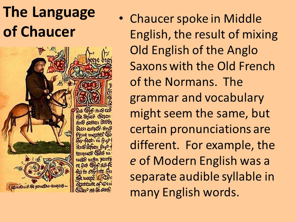 The Language of Chaucer