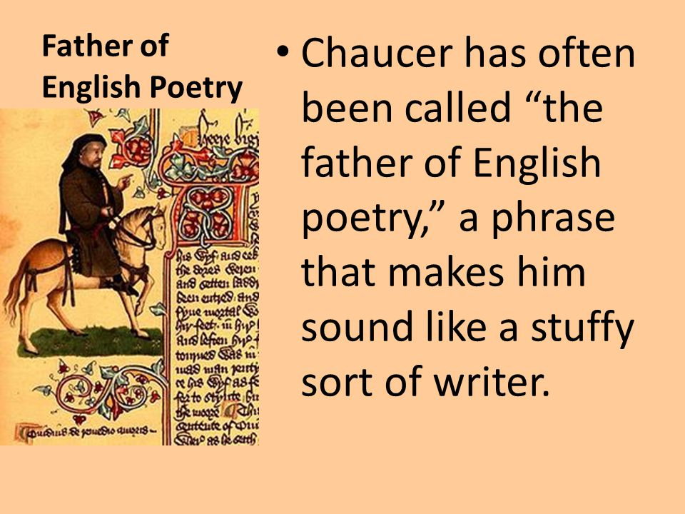 Father of English Poetry
