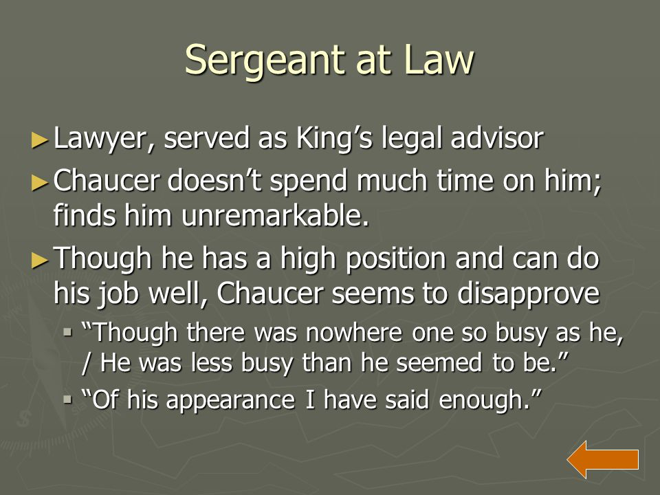 Sergeant at Law Lawyer, served as King's legal advisor