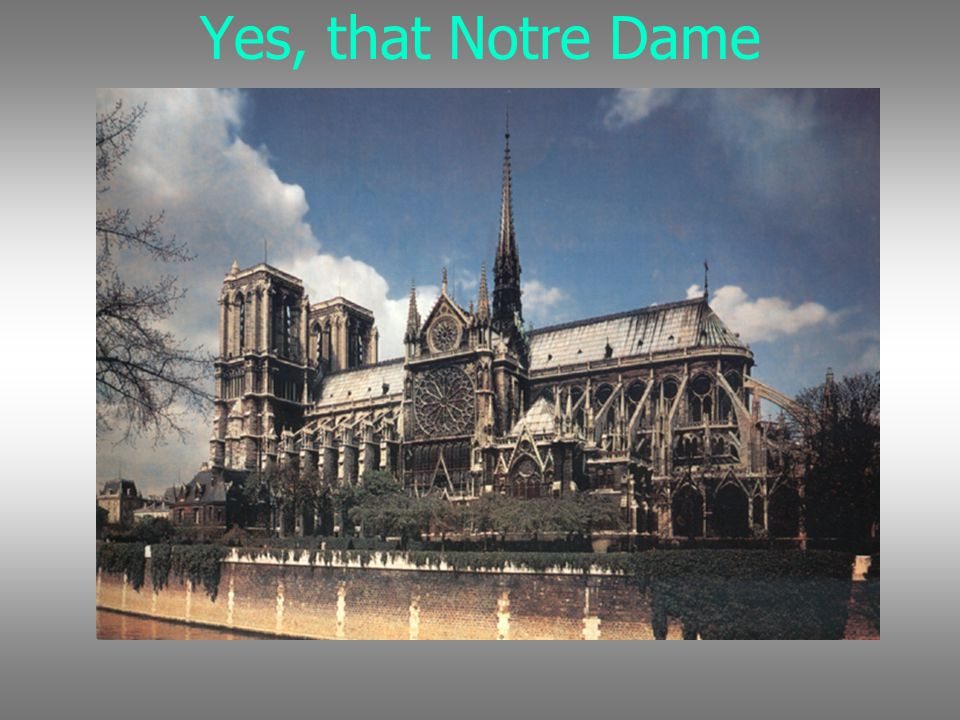 Yes, that Notre Dame