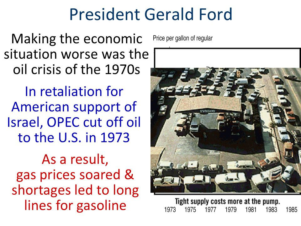 Making the economic situation worse was the oil crisis of the 1970s