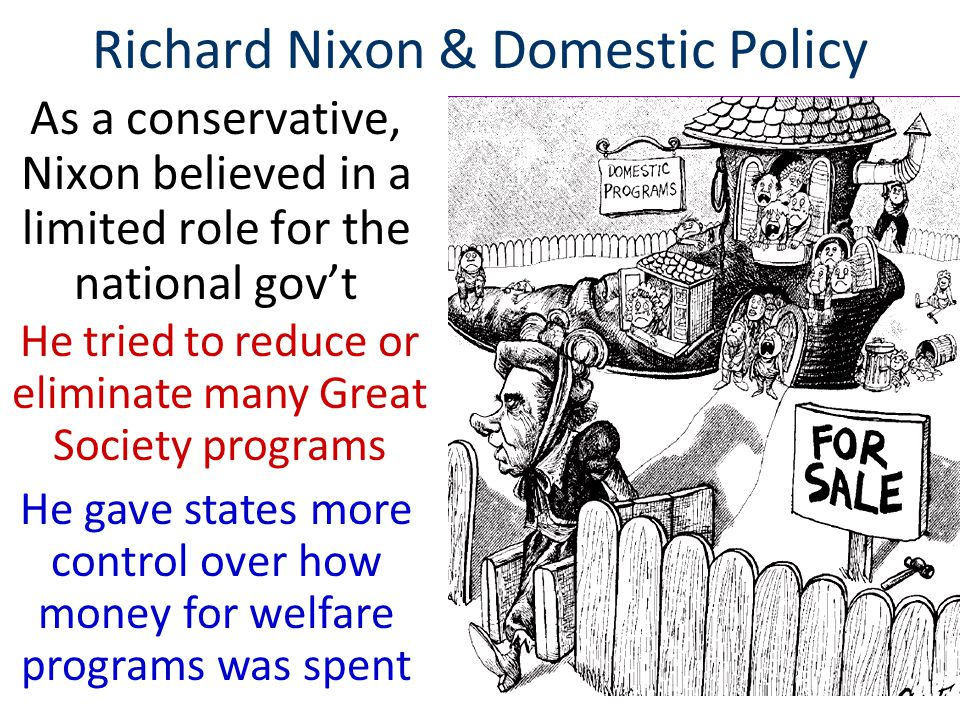 Richard Nixon & Domestic Policy