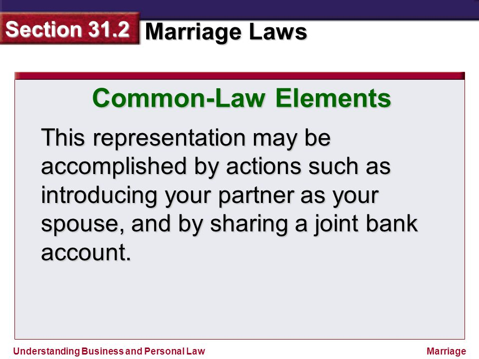 Common-Law Elements