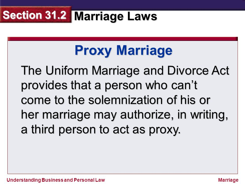 Proxy Marriage
