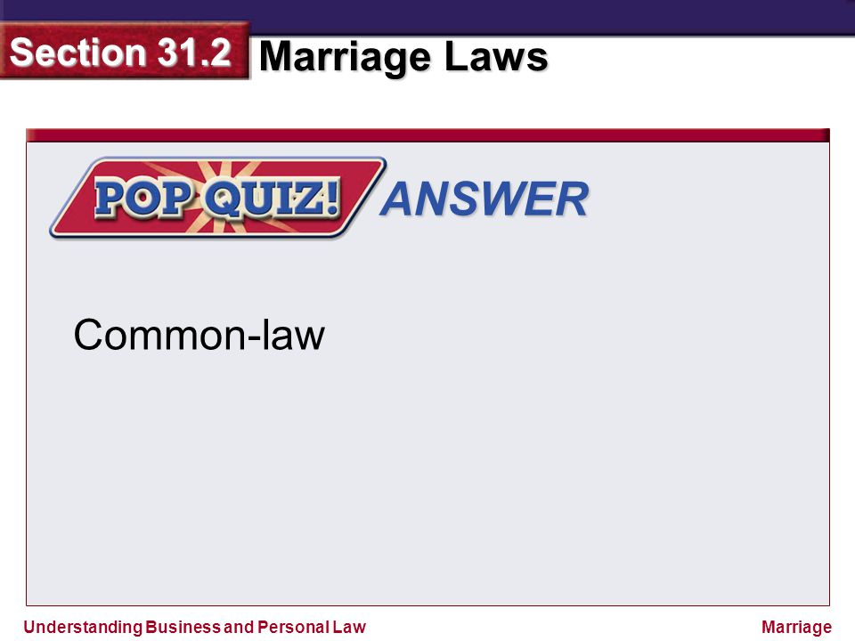 ANSWER Common-law