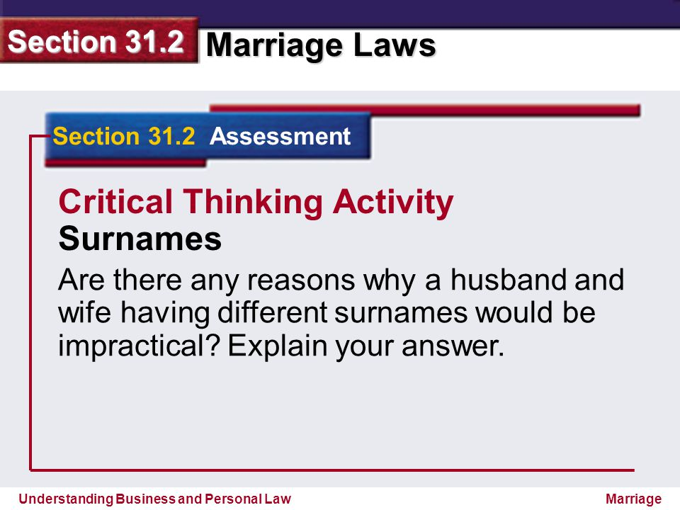 Critical Thinking Activity Surnames