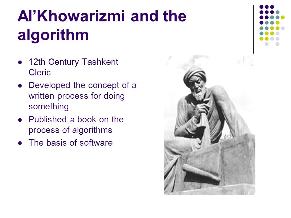 Al'Khowarizmi and the algorithm