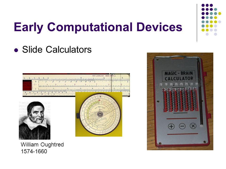 Early Computational Devices