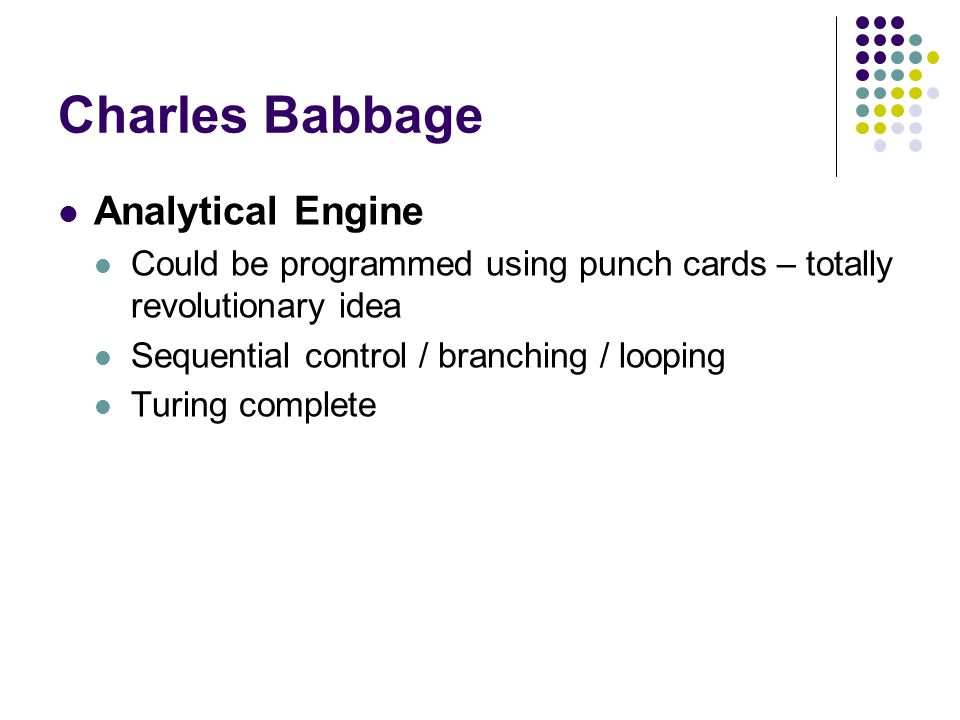 Charles Babbage Analytical Engine