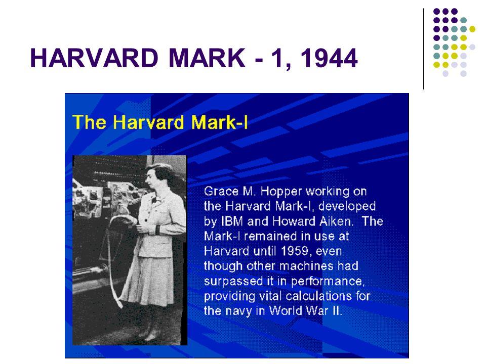 HARVARD MARK - 1, 1944