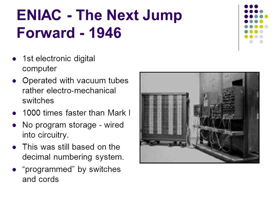 ENIAC - The Next Jump Forward - 1946